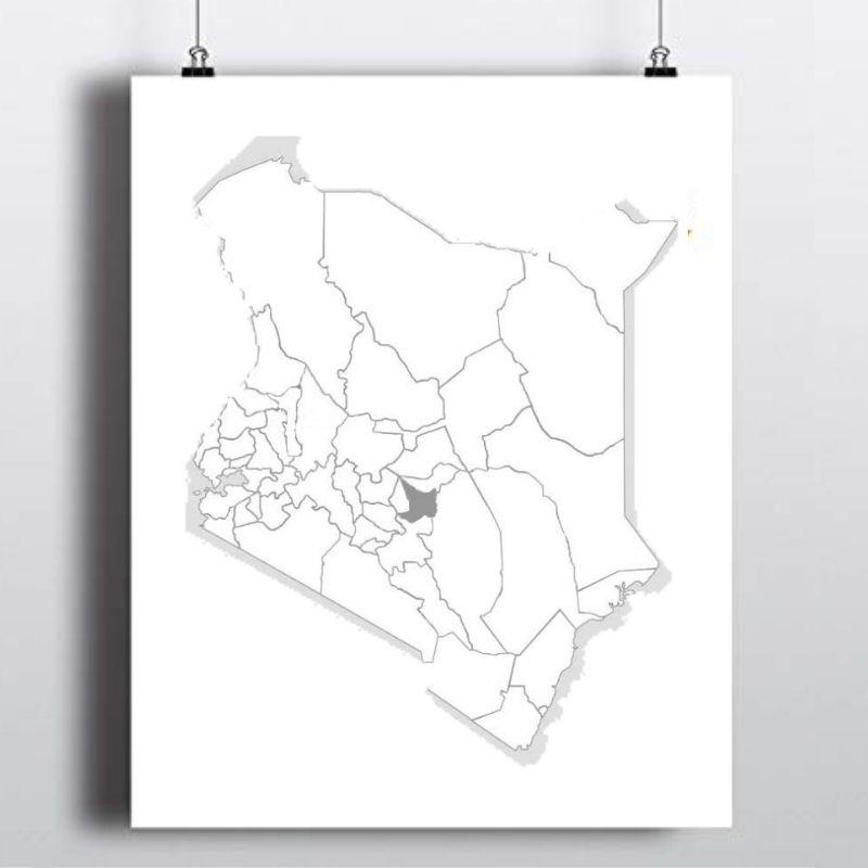 Spatial Location of Embu County in Kenya