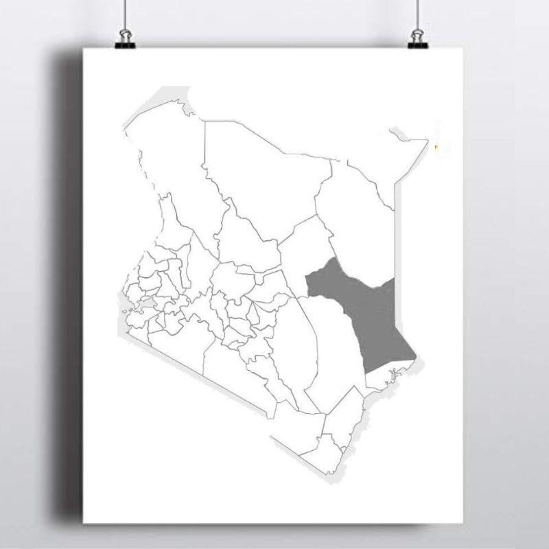 Spatial Location of Garissa County in Kenya