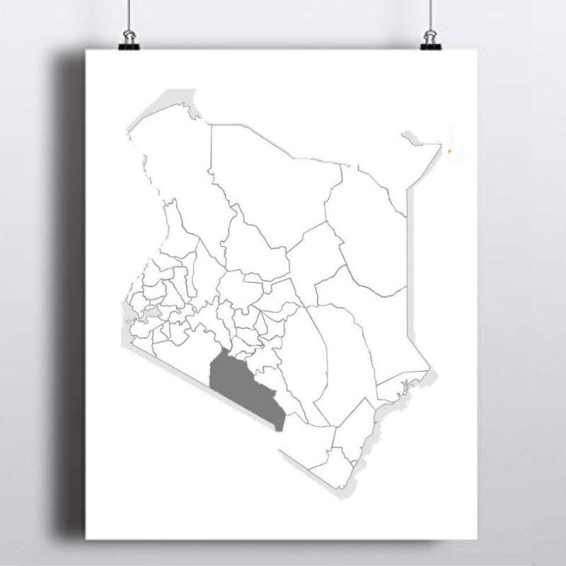 Spatial Location of Kajiado County in Kenya