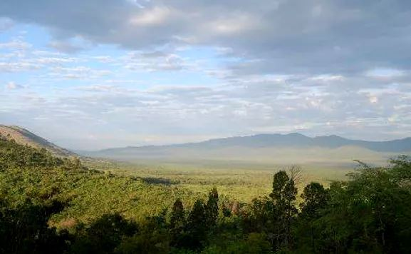 Lambwe Valley, Gwasi Hills and Kanyamwa Range.  Image Courtesy of Mapio