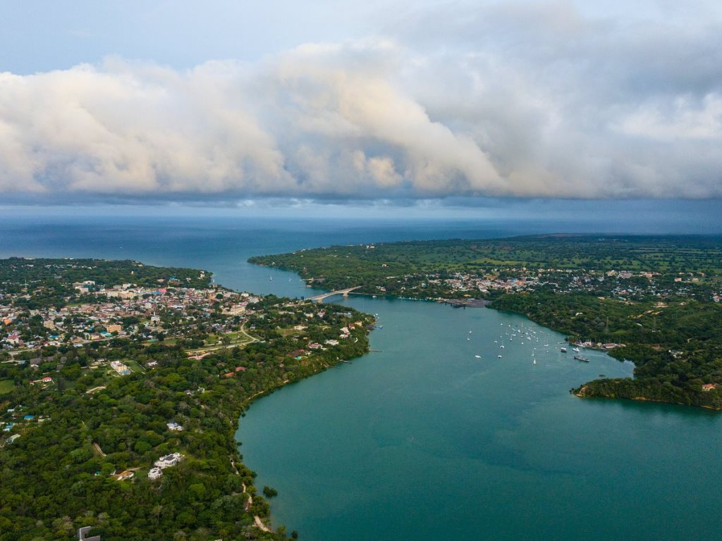 Aerial View of Kilifi Town, Creek and Bridge. Image Courtesy of Tripadvisor