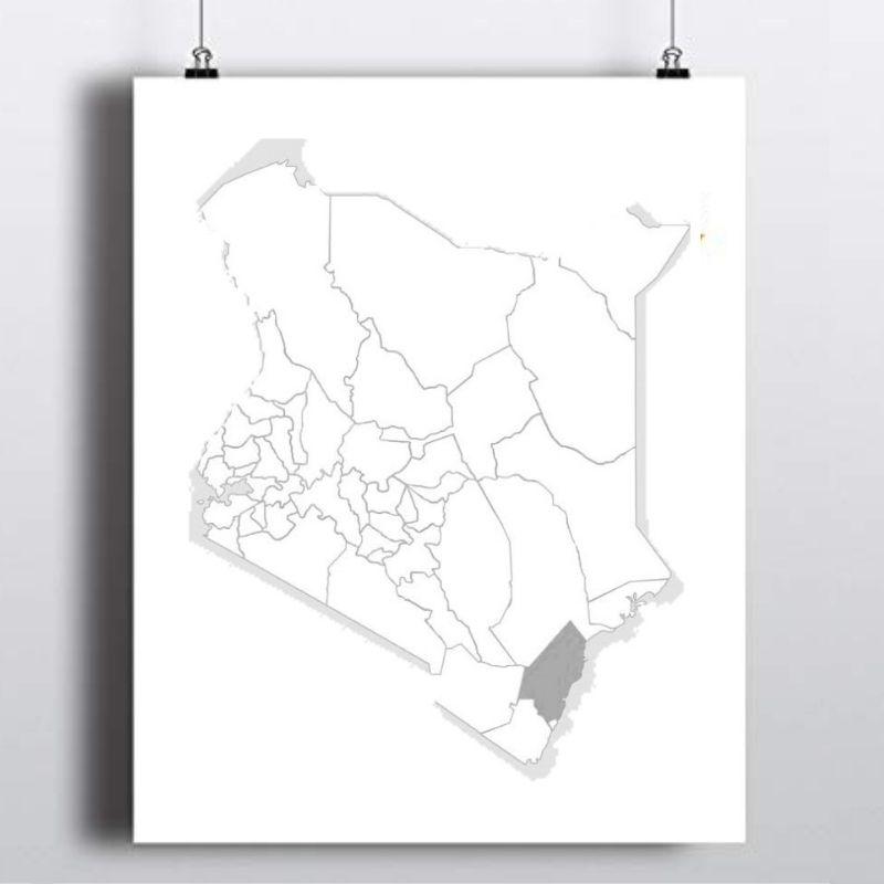 Spatial Location of Kilifi County in Kenya