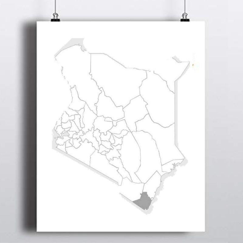 Spatial Location of Kwale County in Kenya