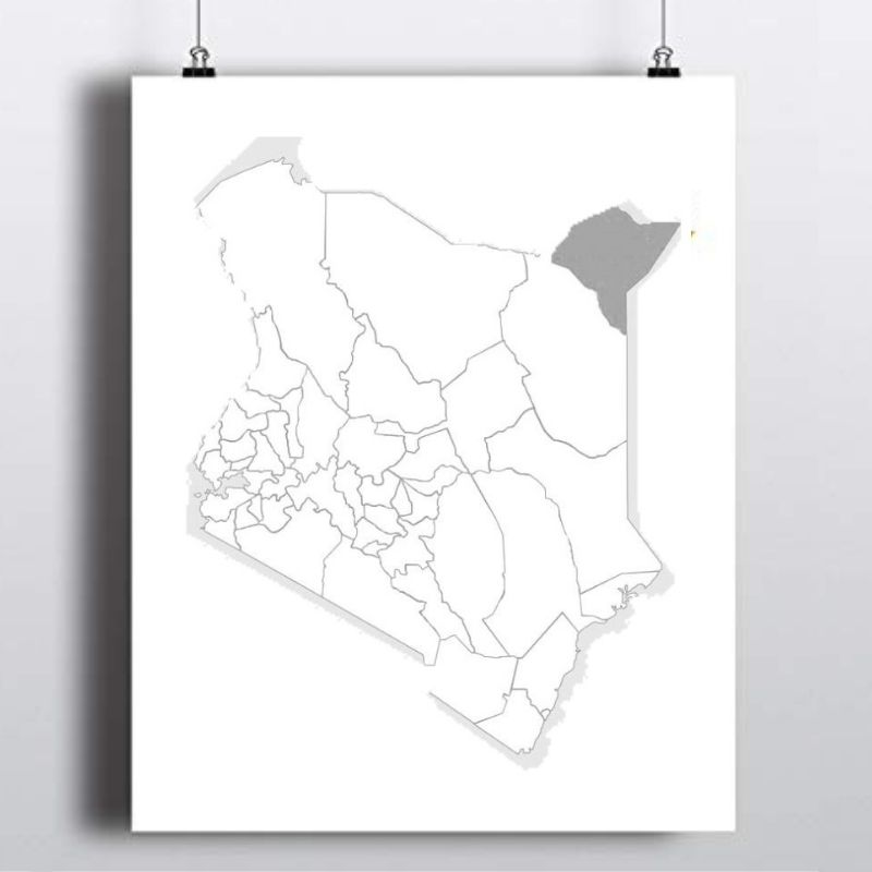 Spatial Location of Mandera County in Kenya