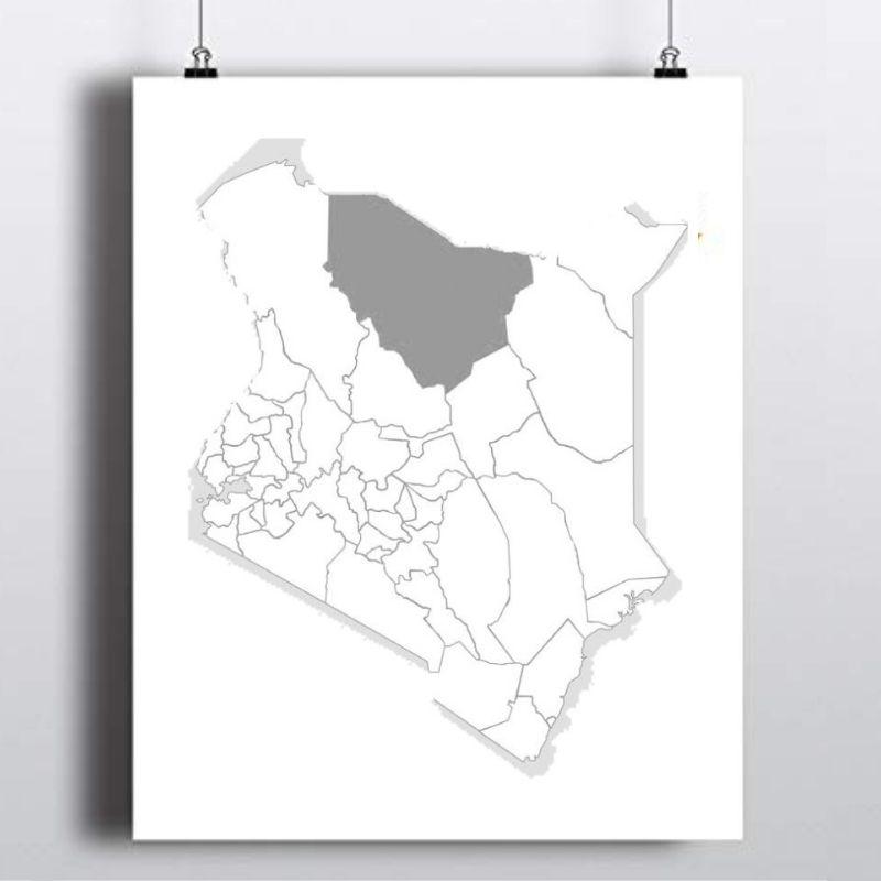 Spatial Location of Marsabit County in Kenya