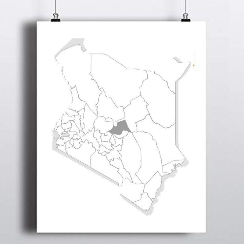 Spatial Location of Meru County in Kenya