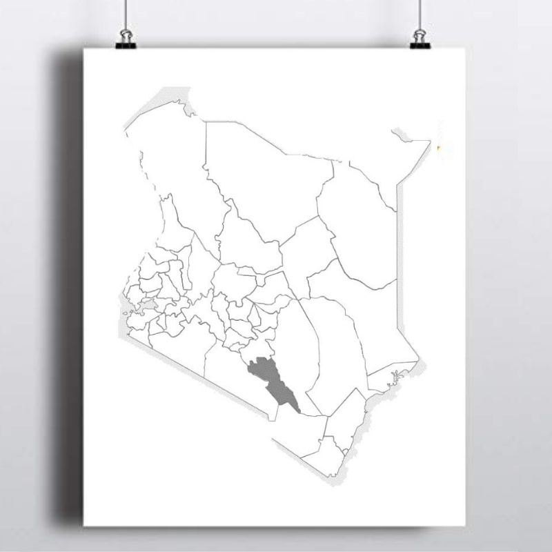 Spatial Location of Makueni County in Kenya